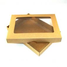 "5"" x 7"" Brown Kraft Invitation Boxes With Aperture Lid"